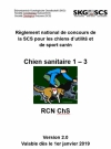 Chien sanitaire / RCN ChS